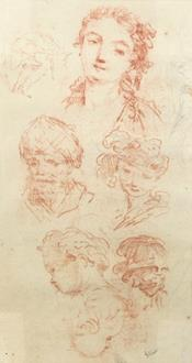 Jean-Baptiste Le Prince Study of Heads