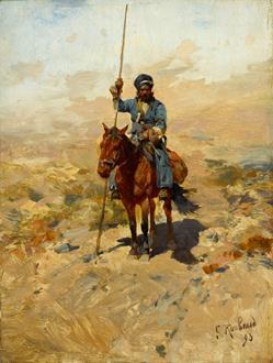 Franz Alekseevich  Roubaud Lone Cossack Horseman