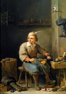 David Teniers II A Cobbler in his Workshop