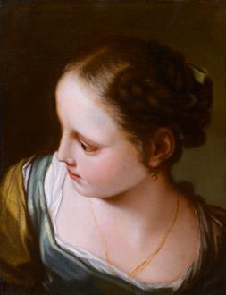Benedetto Luti Portrait of a Young Girl