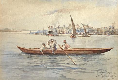 J Pavlikevitch On the Bosphorus, at the entrance to the Golden Horn