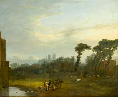 John Inigo Richards A View of St. James's Park with Westminster Abbey beyond
