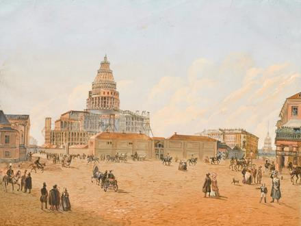 Auguste Ricard De  Montferrand St. Isaac's Cathedral under Construction