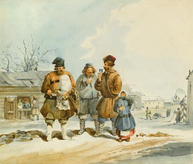 Karl Ivanovich Kollmann The Bread Seller & The Kvas Vendor