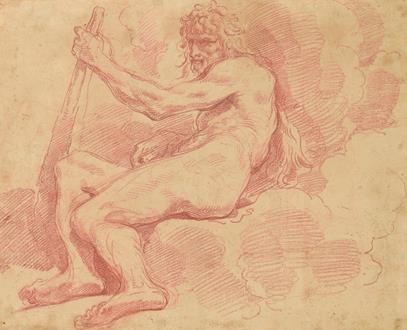 Giuseppe Maria Crespi Study of a Model Posed as a Seated Hercules