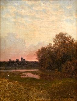 Gavril Pavlovich  Kondratenko Landscape at Dusk