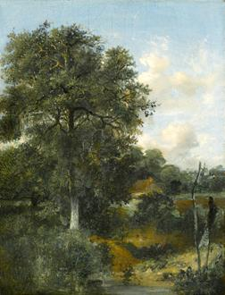 John Crome A Wooded Landscape with an Oak