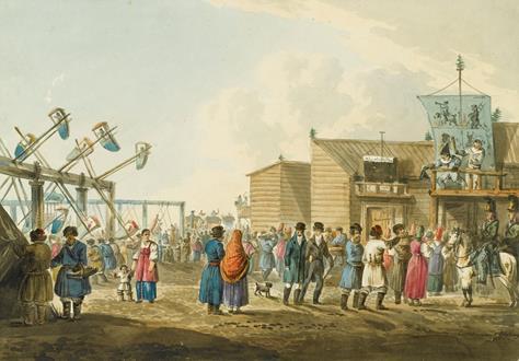 Karl Ivanovich Kollmann A Russian County Fair & A Russian Baptism