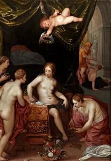 Hendrick van Balen I Herse and her Sisters with Mercury