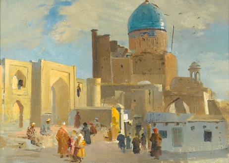 Nikolai Grigorievich Kotov Before the Mosque