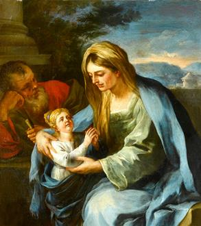 Francesco Solimena St. Anne and the Virgin