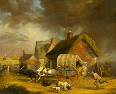 James Ward The Runaway Wagon