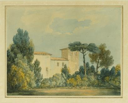 Joseph Mallord William Turner, R.A. Arno, A Villa Among Trees and Bushes