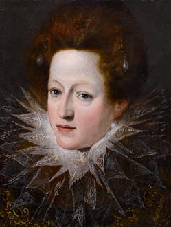 School Florentine A Portrait of a Noblewoman with a Lace Collar