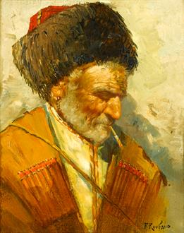 Franz Alekseevich  Roubaud Study of a Cossack