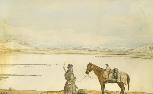 Sir Thomas Edward  Gordon Lake Victoria, Great Pamir, May 2nd, 1874
