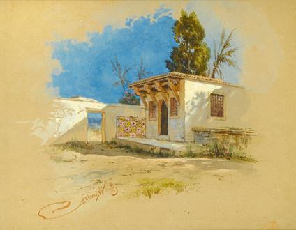Sergey Osipovich  Ovsyannikov A House in North Africa