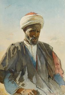 Konstantin Egorovich  Makovsky Portrait of an Arab