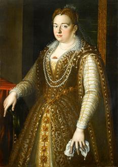 School Florentine Portrait of Bianca Capello (1548 - 1587)
