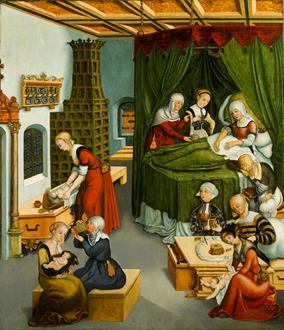 Lucas Cranach the Elder The Nativity of the Virgin