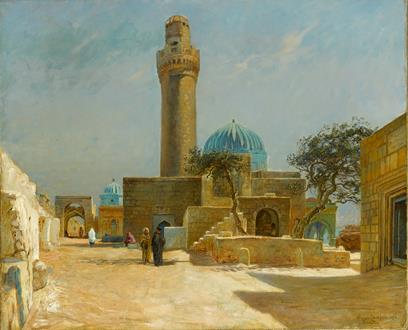 Olaf Viggo Peter Langer View of the Bibi-Heybat Mosque, Baku