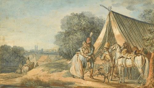 Louis-Joseph Watteau, called Watteau of Lille The Bivouac