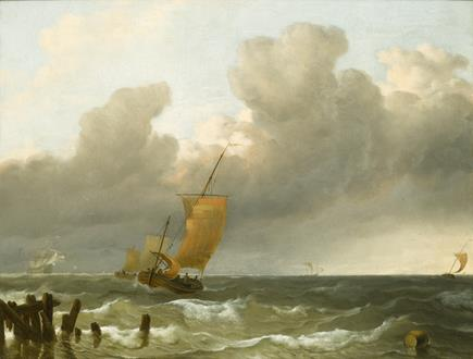 Ludolph Backhuysen Shipping by the Dutch Coast