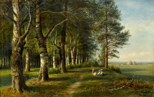 Baron Mikhail Konstantinovich Klodt von Jurgensburg Under the Birch Trees