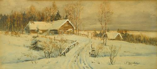 Pavel Stepanovich Rozhankovsky  Winter Landscape