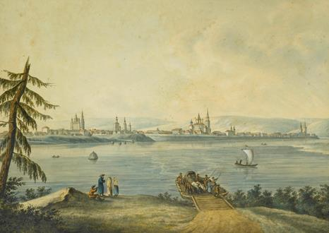 Andrey Yefimovich Martynov The Port of Nikola at the Mouth of the River Angara & View of Irkutsk