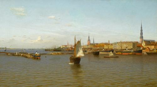 Ulrihs Boitmanis View of Riga
