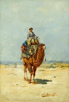 Richard Karlovich Zommer Kirghiz on a Camel