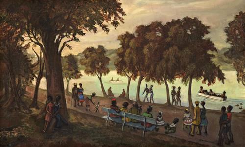 Sergei Sudeikin On the Shore of the Hudson